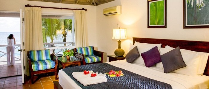Galley Bay offers beachfront suites