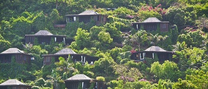 Hermitage Bay includes hillside suites