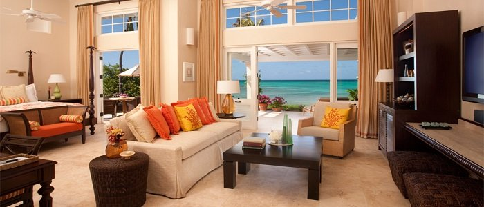 Check out this beachside suite at Jumby Bay!!