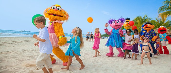 activities include interaction with Sesame Street characters