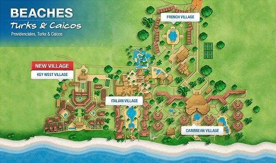 beaches turks caicos map