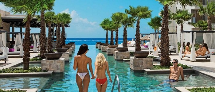 Breathless Riviera Cancun has a topless pool section of the resort