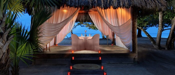 Couples Negril includes private romantic beach side dinners