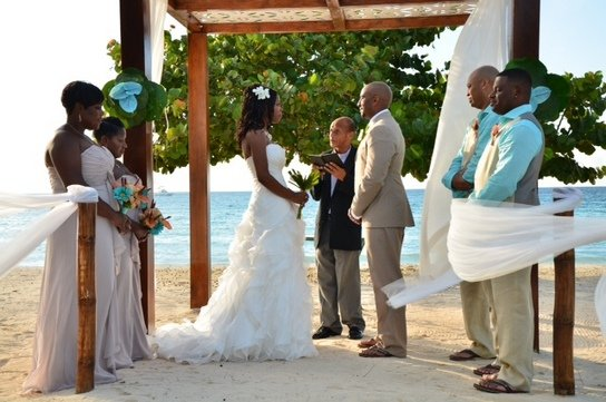 Another happy wedding client at Couples Negril