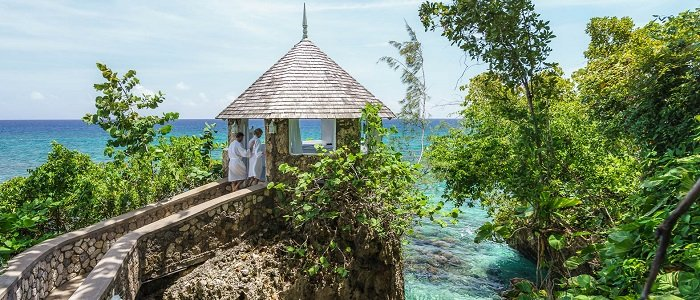 Relax on your tropical getaway at Couples Sans Souci spa