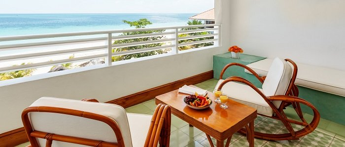 great house ocean suite balcony at couples swept away