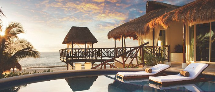 Enjoy a romantic sunset at El Dorado Casitas Royale