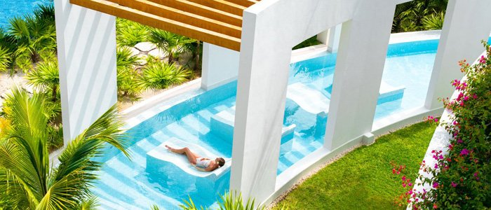 Excellence Playa Mujeres includes relaxing tropical spa