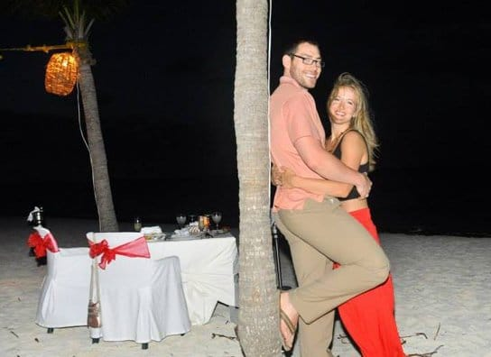 Another happy honeymoon couple at Excellence Playa Mujeres