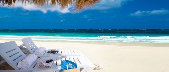 Hard Rock Punta Cana includes beautiful blue waters and white sandy beaches