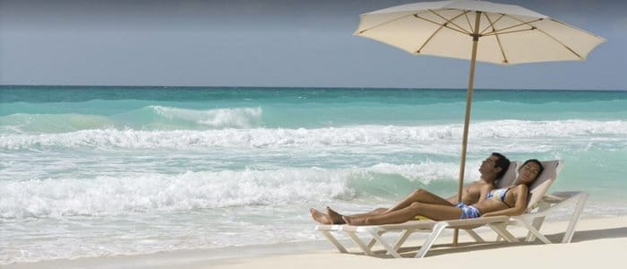 Le Blanc Cancun includes beautiful blue waters and white sandy beaches