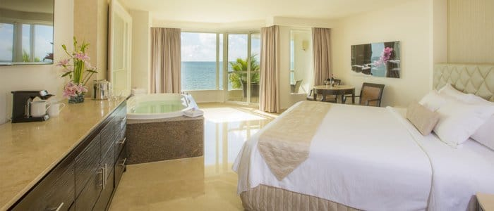 Moon Palace Cancun includes ocean front suites with indoor jacuzzi