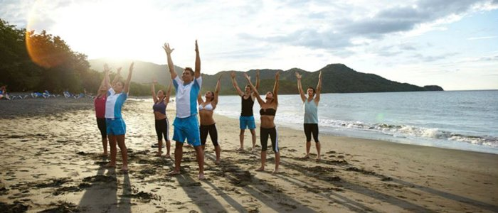 Yoga on the beach at Riu Palace Costa Rica