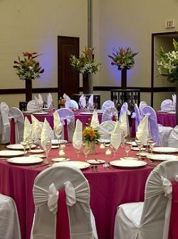 ballroom at Royal Cancun set up for an all inclusive Cancun Wedding