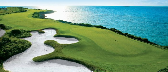 Sandals Emerald Bay includes a gracious golf course on the water