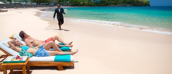 Sandals La Toc offers butler service
