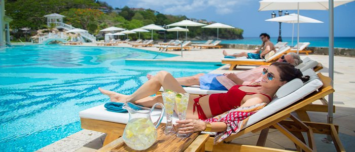 Sandals La Toc includes poolside service