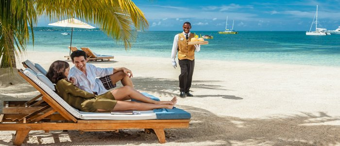 Sandals Negril includes butler service