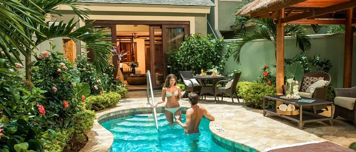 Sandals Negril offers the millionaire private pool suites