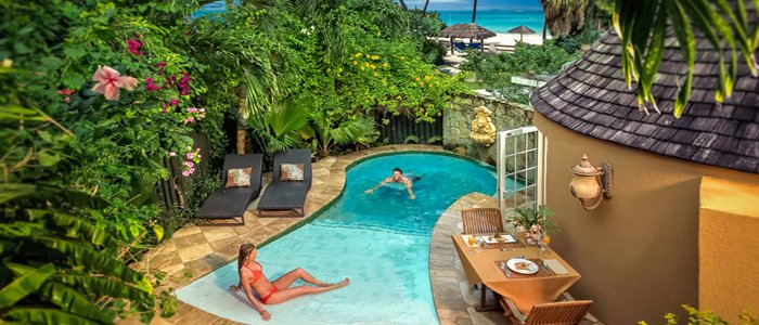 Sandals Grande Antigua includes private pool beach front suites