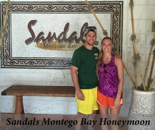 Another happy honeymoon couple at Sandals Montego Bay