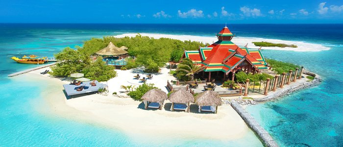 Sandals Royal Caribbean includes blue waters and white sandy beaches