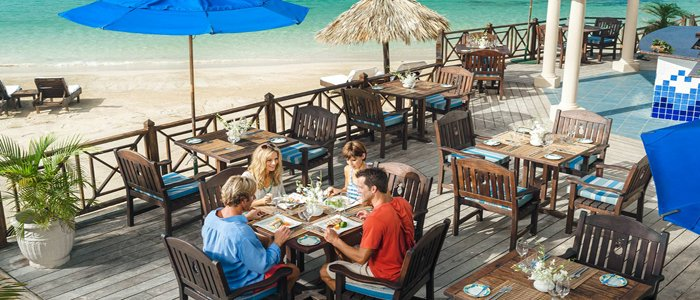 Sandals Beach-side dining