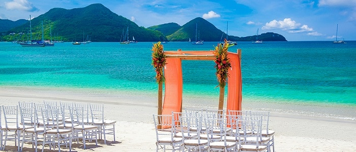 free weddings available at Sandals Grande St Lucian