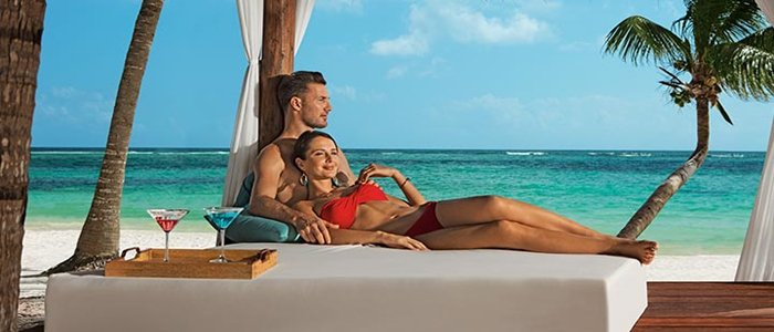 Secrets Akumal Adults Only includes beach side service and blue waters