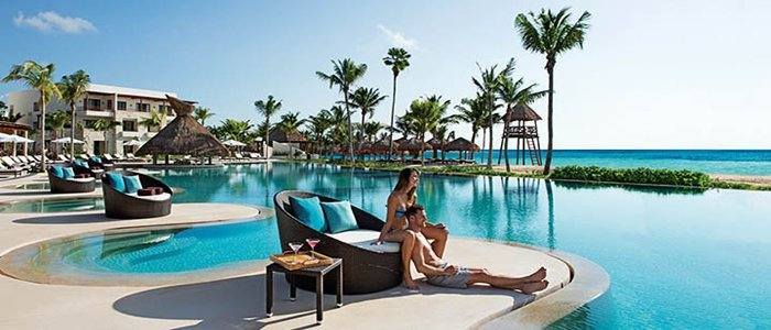 Secrets Akumal adults only includes poolside service