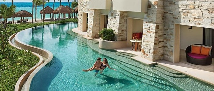 Secrets Akumal adults only offers swim up suites