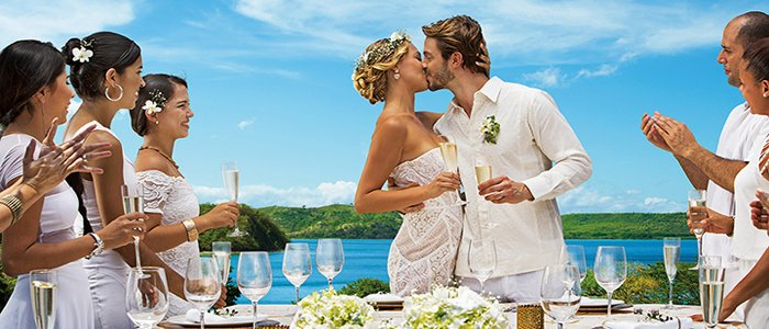 Secrets Papagayo Costa Rica includes great wedding packages for many budgets