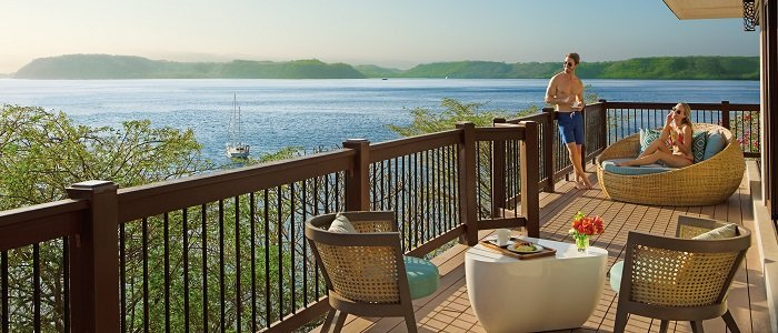 Secrets Papagayo include private terrace with great views