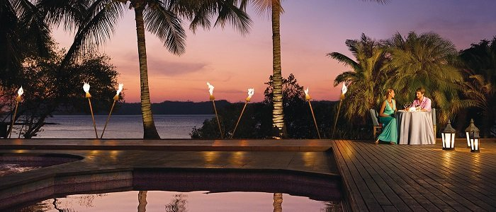 Secrets Papagayo Costa Rica includes romantic sunset dinners on the beach