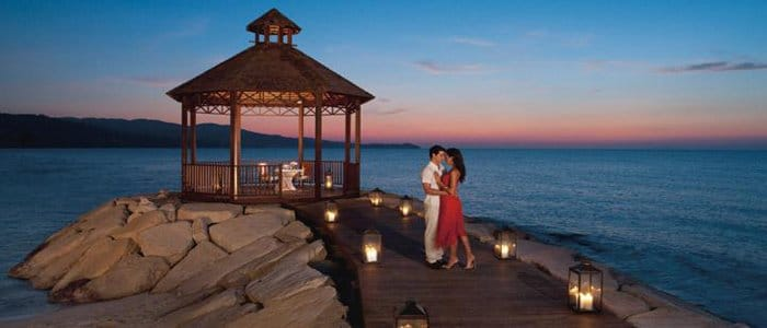 Secrets St James includes romantic dinners by the water