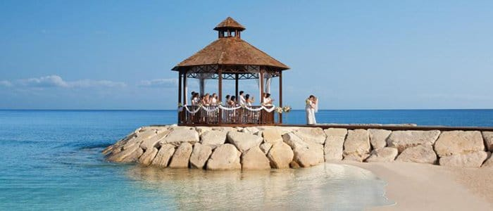 Secrets St James offers beach side weddings