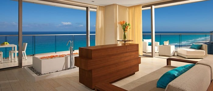 Secrets the Vine includes suites with indoor soaking tubs and ocean views