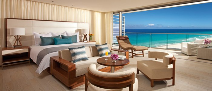 Secrets the Vine offers junior suites with breathtaking ocean views