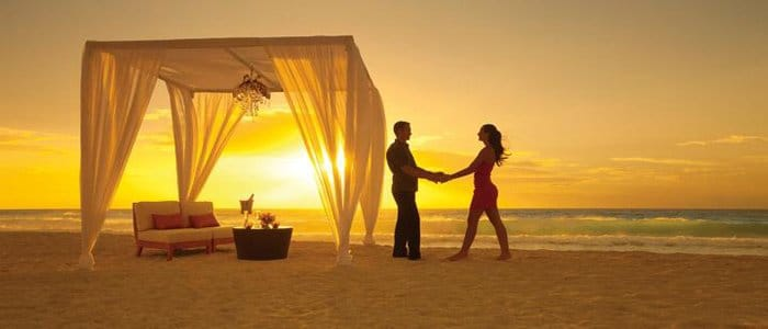 Secrets the Vine includes romantic ocean side dinners and sunset romance