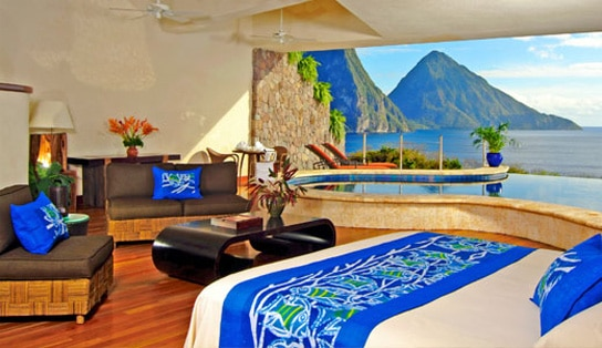 Jade Mountain Resort St Lucia honeymoon
