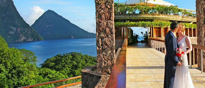 st lucia wedding at jade mountain