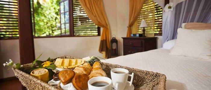 Breakfast in bed on your tropical getaway