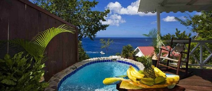 Ti Kaye Resort and Spa includes suites with private pools