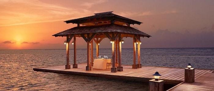 jamaica honeymoon, romantic pier at zoetry montego bay
