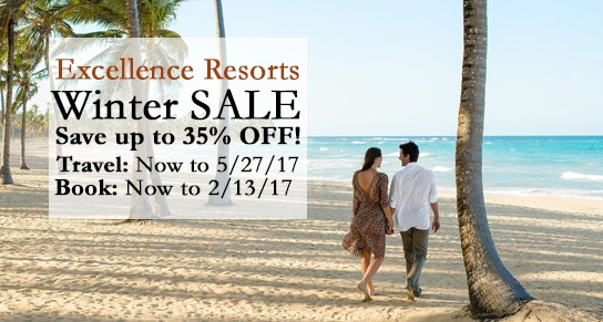 Excellence Resorts honeymoon sale