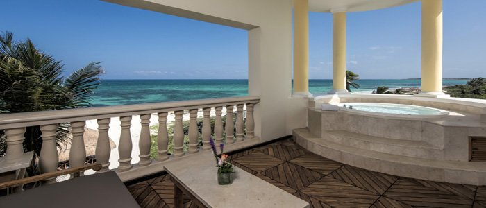Iberostar Grand Paraiso includes private terrace suites with outdoor jacuzzi