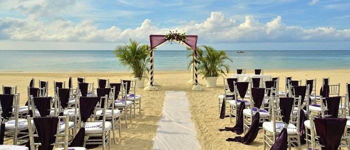 all inclusive jamaica wedding on the beach at iberostar grand