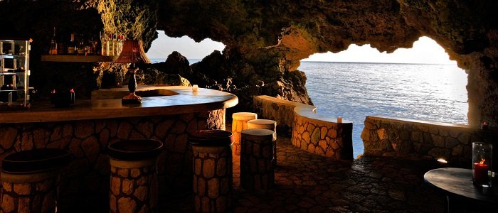 Your tropical bar nestled inside a cave