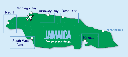 Jamaica honeymoon Map