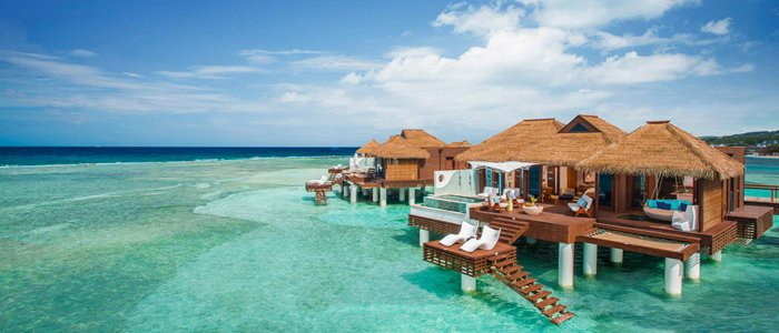 Montego Bay Honeymoons offer over the water bungalows